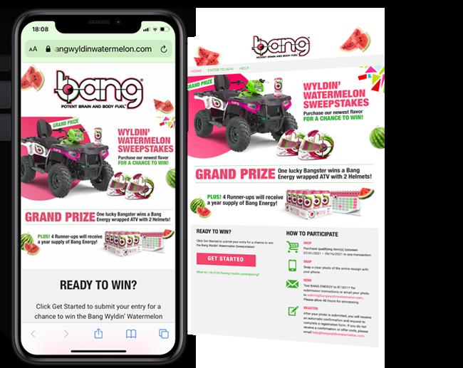 Bang Energy 365  Bang Wyldin Watermelon Sweepstakes web