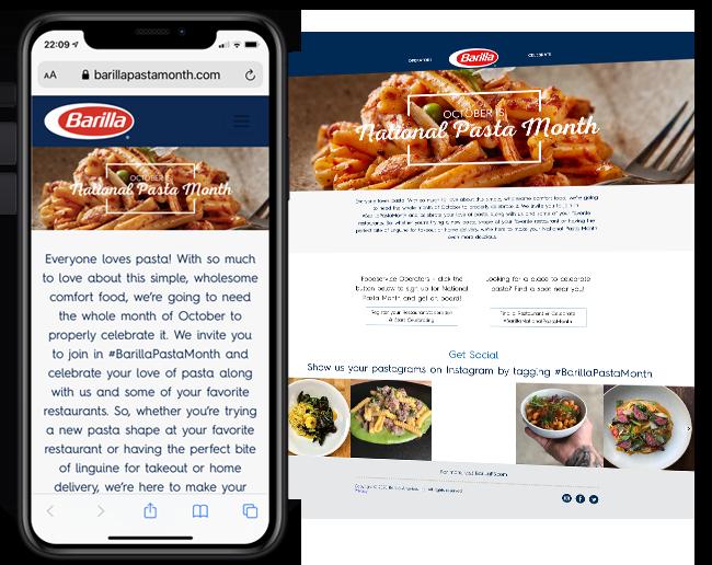 Barilla National Pasta Month B2B Reward 2021 web