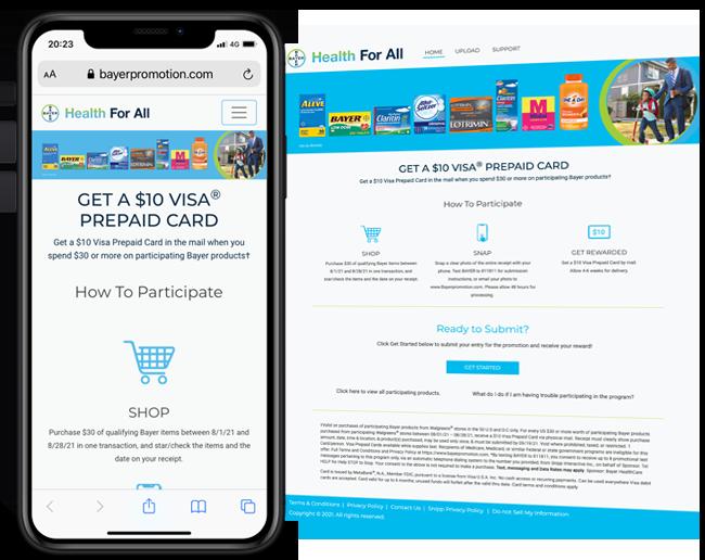 Bayer HealthCare Promotion - Walgreens web