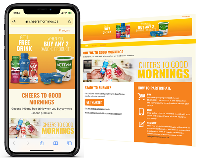 Danone National Cheers To Good Mornings Promotion web