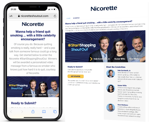 GSK Nicorette WS Influencer Sweeps web