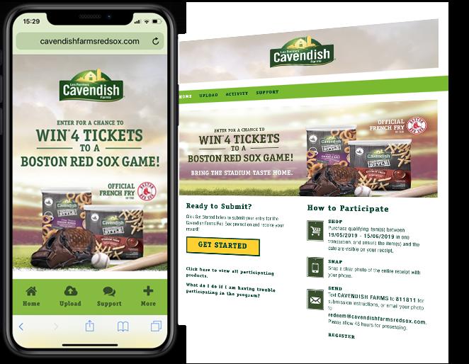 Hatchery Marketing Cavendish Red Sox Sweepstakes web