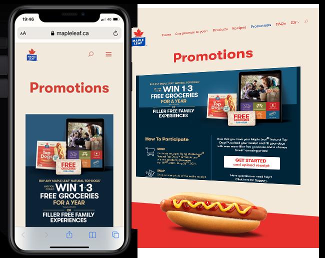 Hatchery Marketing Maple Leaf Foods Top Dogs Giveaway web