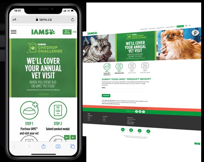 IAMS Check-up Challenge Canada web
