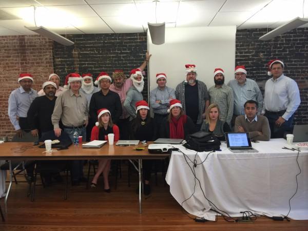 Santas Doing Serious Work in DC...