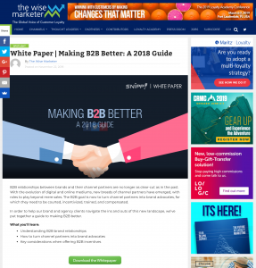 Making B2B Better: A 2018 Guide - A Snipp White Paper on The Wise Marketer