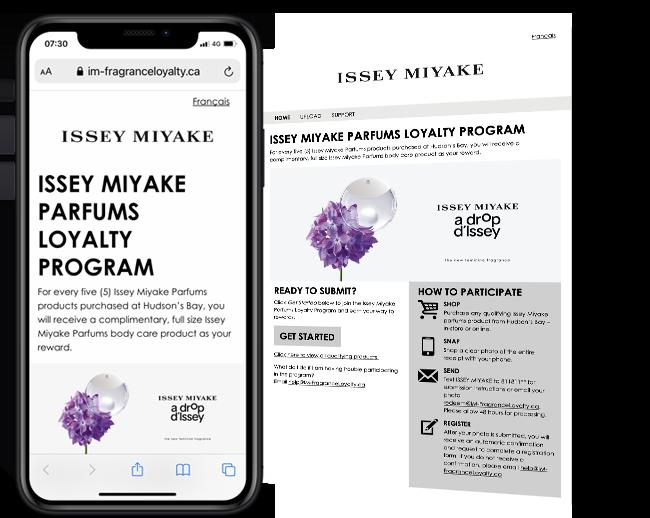 Issey Miyake Parfums Loyalty Program web