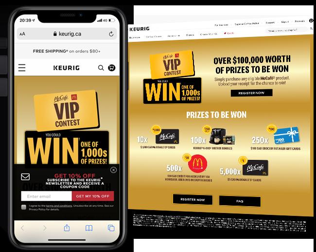 KDP 365 - Program 3 - McCafe Contest web
