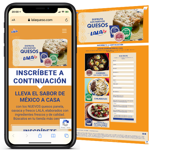 LALA Text to Get Recipes web