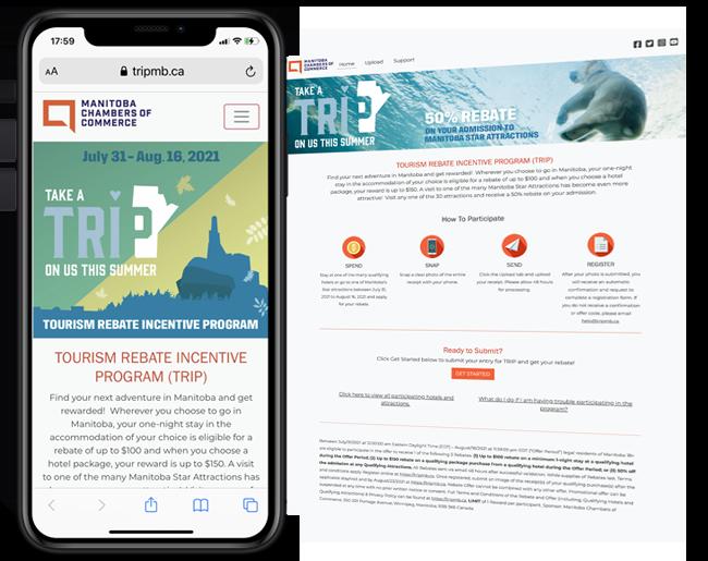 Manitoba Chambers of Commerce Travel Stimulus Program web