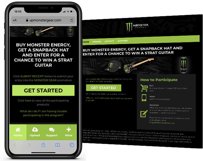Monster 365 United Pacific Buy Get and Sweeps web