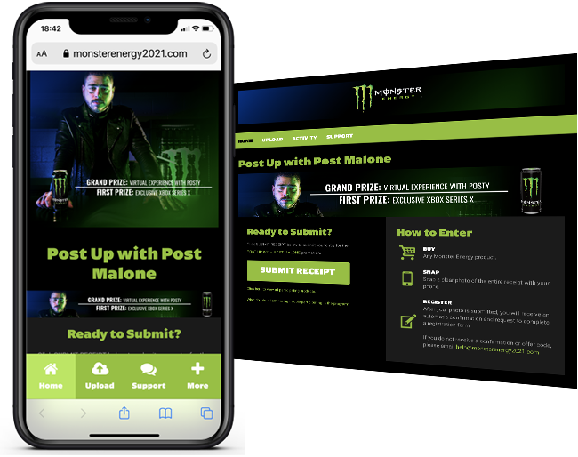 Monster Energy Post Buy Get Sweeps web