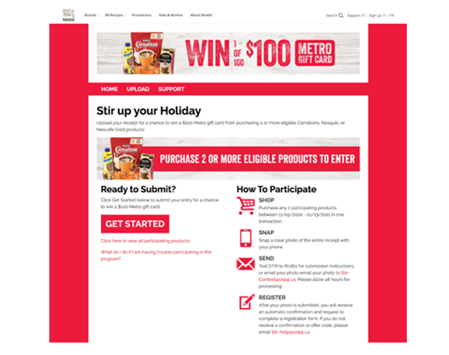 Nestle CA Metro Stir Up Your Holiday Sweepstakes web
