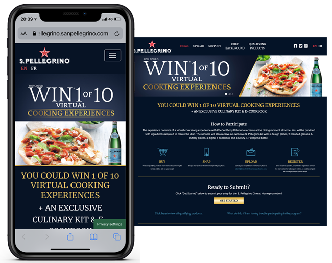 Nestle CA S Pellegrino Dine at Home Sweepstakes web