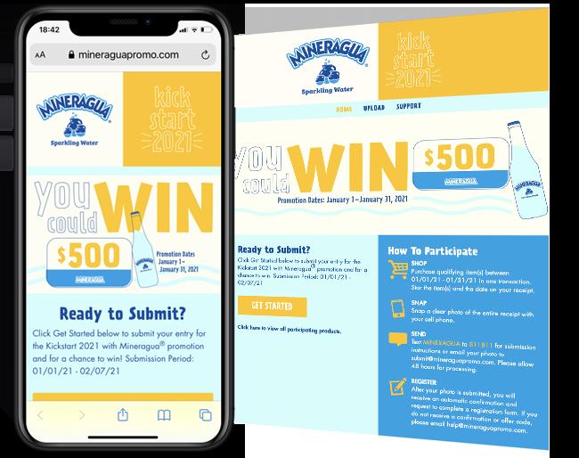 Novamex Mineragua Digital Cash Sweepstakes web