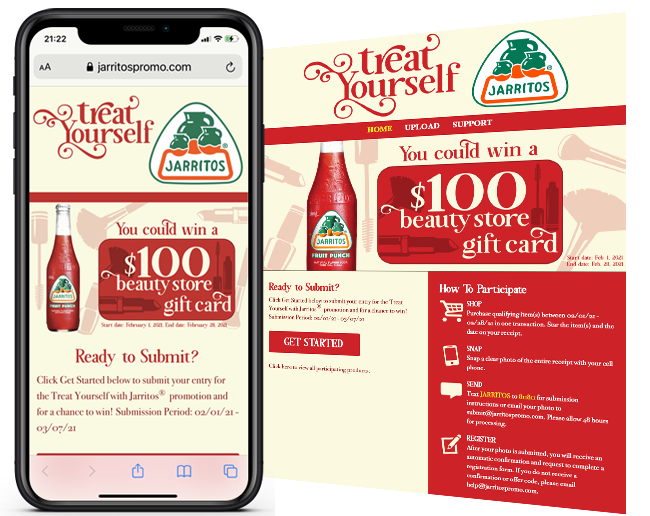Novamex Treat yourself from Jarritos sweepstakes web
