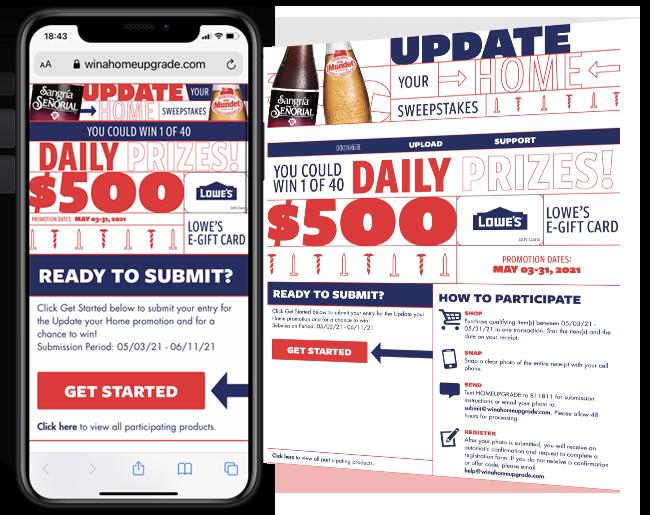 Novamex Upgrade your home instant win game web