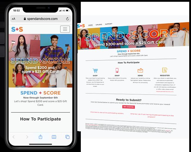 PREIT Properties Spend and Score web