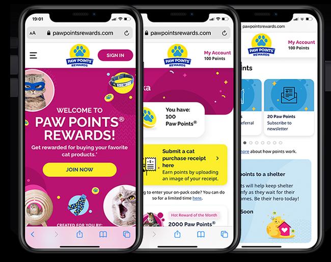 Paw Points loyalty web