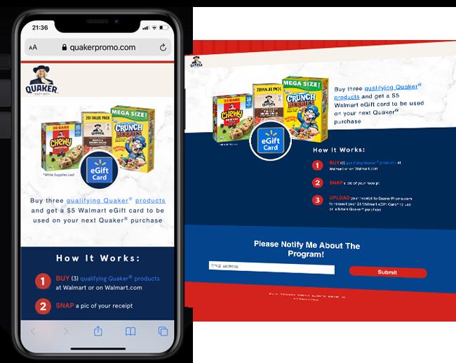 Propac Marketing Quaker Oats Walmart Reward web