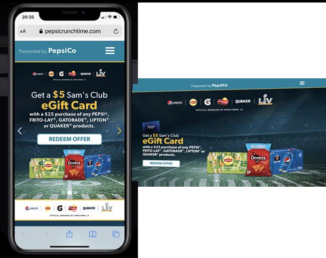 RSM Pepsi Super Bowl Offer web