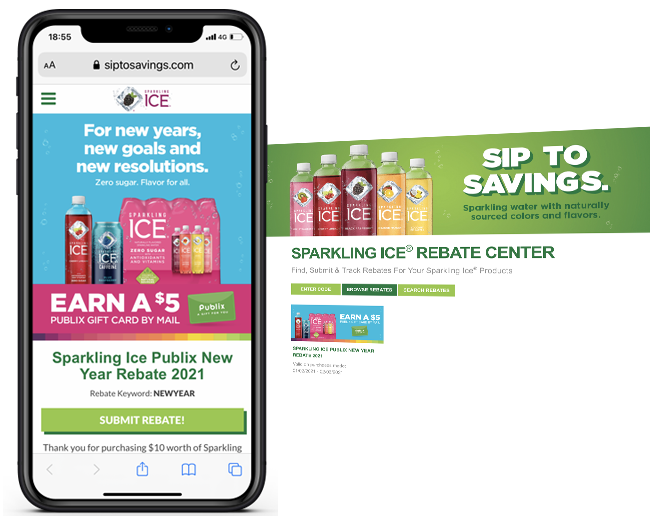 Sparkling Ice Publix New Year Rebate 2021 web