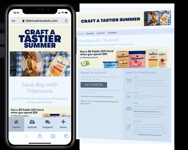 Tillamook Country Creamery Portfolio Publix Promotion web