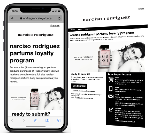 narciso rodriguez parfums loyalty program web