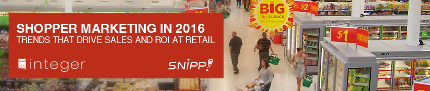 Webinar! Shopper Marketing in 2016 – Trends that Drive Sales & ROI at Retail