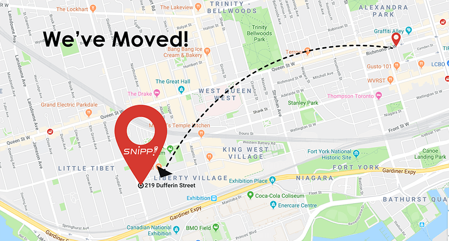 We've Moved! Check Out Snipp Toronto's New Digs